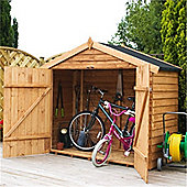 Bike Store 7 x 3 Sutton Overlap Garden Wooden Bike Store (7ft x 3ft) - Fast Delivery - Pick A Day