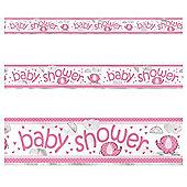 Pink Umbrellaphants Foil Banner - 12ft