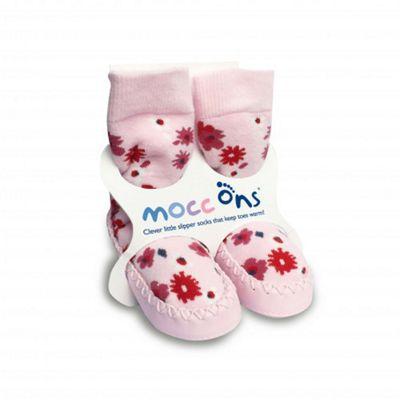 Mocc Ons Slipper Socks - Ditsy Floral - 6-12 Months