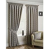 Orbital - Stone - Pencil Pleat Curtains - Stone