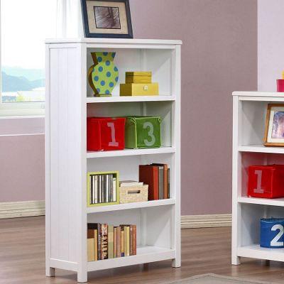 Hickory 4 Shelf Bookcase - White