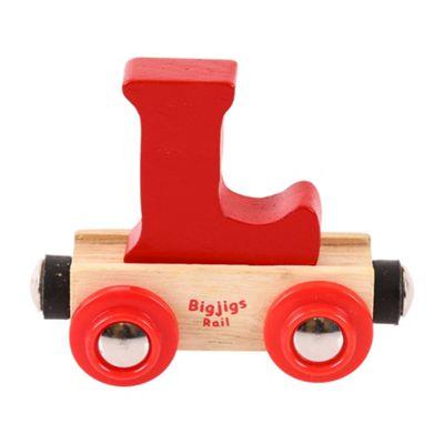 Bigjigs Rail Rail Name Letter L (Dark Red)