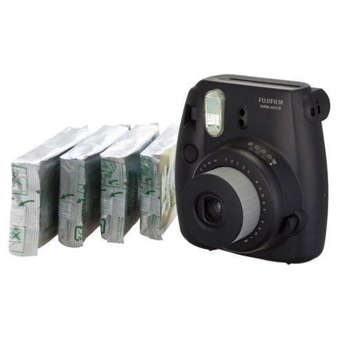 Fujifilm Instax Mini8 Bundle with 4 packs of film (40 shots), Black