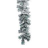 Snowy Canadian Green Christmas Garland - 270 x 20cm