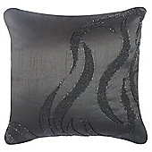Beaded Wave Cushion - Black