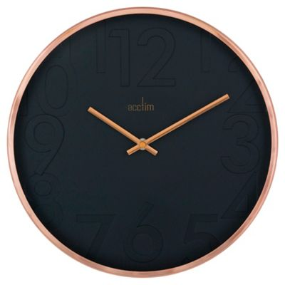 buy acctim copper black wall clock from our clocks range. Black Bedroom Furniture Sets. Home Design Ideas
