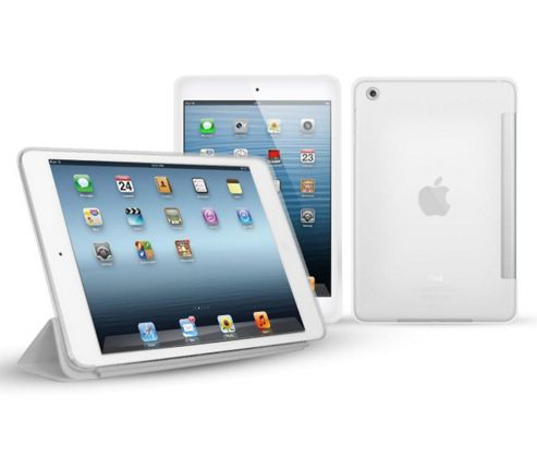 Matte Transparent Clear Smart ProGel Skin Case For Apple iPad Mini Tablet