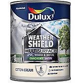 Dulux Weathershield Multi Surface Paint - Cotton Cream - 750ml