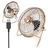 "Twitfish USB Desk Fan 6"" - Brass"