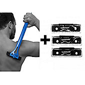 Bakblade Back Shaver Razor Shaving Mens Hair Removal Handle Replacement Blades