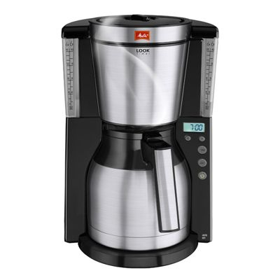 Melitta 101116BK Look Therm Timer Filter Coffee Maker 15 Cup Capacity in Black