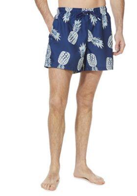 F&F Quick Dry Pineapple Swim Shorts Blue XL