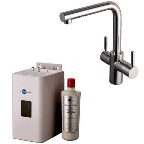 Insinkerator 3N1 Instant Hot Tap | 3in1 Mains Hot & Cold with Instant Hot Tap in Chrome Complete with NEO Tank & Filter