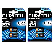 4 x Duracell Ultra Photo CR2 DLCR2 / EL1 / CR15H270 3v Lithium Batteries