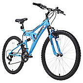 "Terrain 26"" Wheel Full Suspension Blue Unisex Mountain Bike"