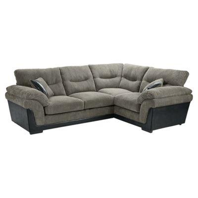 Kendal Jumbo Cord Right Hand Corner Sofa, Dark Grey