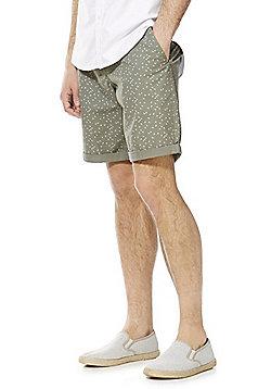F&F Triangle Print Chino Shorts - Olive