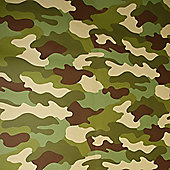 Camouflage Wallpaper 10m - Rasch