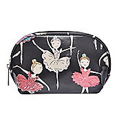 Small Pink Ballerina Print Make Up Bag
