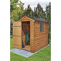 Forest Garden Overlap Dip Treated 6x4 Apex Shed with Easy Fit Roof
