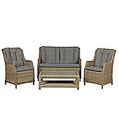 Wentworth 4pc Highback Comfort Garden Lounging Set
