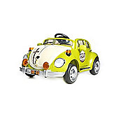 Retro Beetle Style 12v Electric Ride On Car in Green