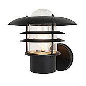 Litecraft Cana 1 Bulb Outdoor Fisherman Style Wall Lantern, Black