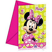 Minnie Mouse Bow-Tique 6 Pack Party Invitations Accessories
