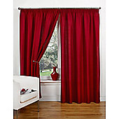 Hamilton McBride Canvas Unlined Pencil Pleat Curtains - Red