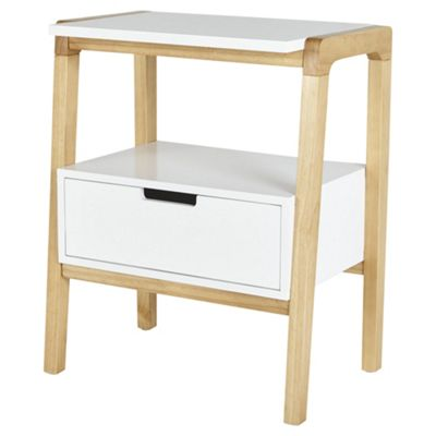 Tronje 1 Drawer Open Bedside Table