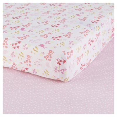 Tesco Bunny 2pk Cot Bed Sheets