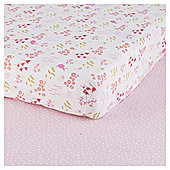 Tesco Bunny 2pk Cot Bed Sheets