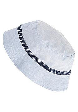 F&F Chambray Spot Bucket Hat - Blue