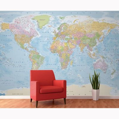 Buy world map wall mural 315m x 232m from our wall stickers world map wall mural 315m x 232m gumiabroncs Choice Image