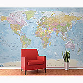 World Map Wall Mural 3.15m x 2.32m