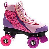 Luscious Retro Quad Roller Skates - Pure Passion - Purple