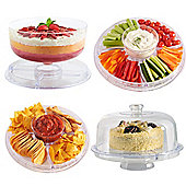 VonShef Multi-Function 30cm Cake Stand with Dome Lid