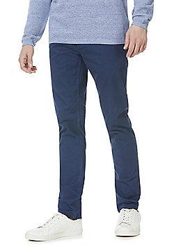 F&F Stretch Skinny Leg Chinos - Petrol Blue