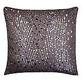Kylie Minogue 'Eva Mauve' Purple Sequin Embellished Cushion, 55 x 55cm