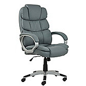 Halo Grey Faux Leather Padded Office Chair
