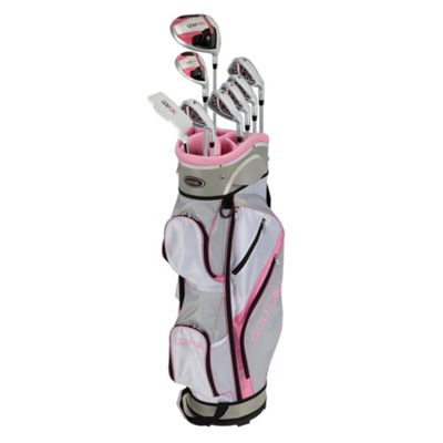 Golfgirl Fws3 Ladies Petite Complete All Graphite Pink Left Hand Golf Clubs Set W/ Cart Bag