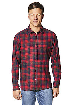 F&F Checked Flannel Long Sleeve Shirt - Red