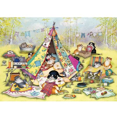 Glamping Cats - 1000pc Puzzle