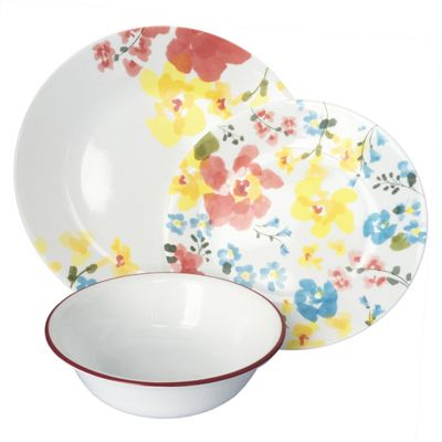buy corelle vive cheerful garden 12 piece set from our. Black Bedroom Furniture Sets. Home Design Ideas