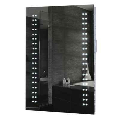 Opticon LED Illuminated Bathroom Mirror With Demister Pad Shaver Socket Motion Sensor