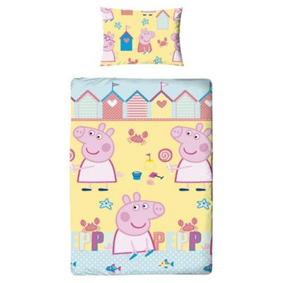 Peppa Pig Seaside Duvet Cover Set Single