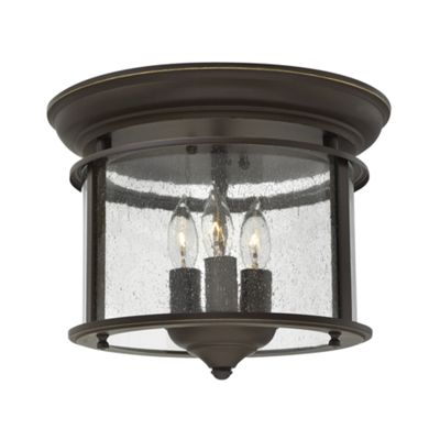 Olde Bronze Flush Mount - 3 x 40W E14
