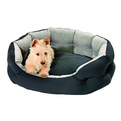 Karlie Quantum Guard Dog Bed - Black / Grey - 46cm W x 60cm L