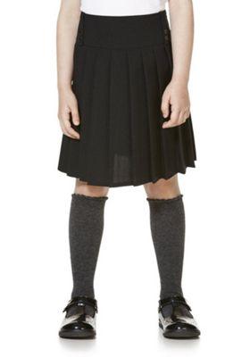 F&F School Kilt-Style Permanent Pleat Skirt 4-5 years Black