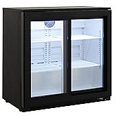 Cookology CCBF210BK Commercial Sliding 2 Door Bottle Display Fridge, Bar Beverage Cooler